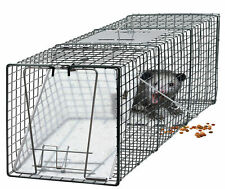 "Raccoon Skunk Poss Humane Animal Trap 31""x12""x12"" Cage Rabbit Cat Live Rodent EO"