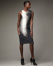NWOT  $595 BEAUTIFUL HELMUT LANG ABYSS  PRINT  DRESS SIZE SMALL 8
