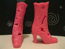 BARBIE TORI popstar Doll Princess & The Pop Star PINK Dress Shoe LASER CUT BOOTS
