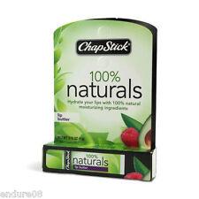 CHAPSTICK 100% NATURALS LIP BUTTER BALM CHAP STICK ALL NATURAL ONE ONLY