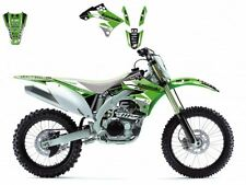 BLACKBIRD KAWASAKI KXF 450 2009 KIT GRAFICHE ADESIVI DREAM 3 GRAPHICS VERDI NERE