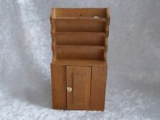 Vintage Miniature Doll House Furniture Wooden Hutch