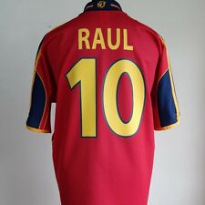 Spain Home Football Shirt Adult Large RAUL #10 1999/2002 EURO 2000