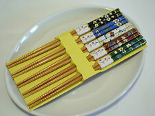 Japanese Handmade Natural Bamboo Chopsticks Collection 5 Pairs Deluxe Kit 02