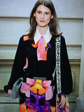 Chanel 15P NEW Black Pink Purple Multicolor Jacket Blouse with Scarf  FR50 $4.2K