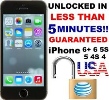 Unlock AT&T ATT iPhone 4 4s 5 5s 5c 6 CLEAN IMEI Factory Express Service/Code