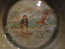 "Irish Wade Porcelain Bowl Fly Fishing Armagh Ireland 5""w Vintage"