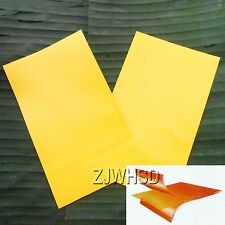 2pcs Yellow PVC Patch Inflatable Boat Raft Kayak Canoe Repair Material 12 x 20cm