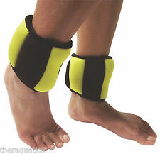 2.2lb SAND FILLED SOFT Aquatic ANKLE WEIGHT Cuff Rehab Water Aerobics 8008 PAIR
