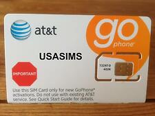US USA SIM CARD STANDARD SIM AT&T 3/4G AMERICAS BIGGEST NETWORK PAY AS YOU GO