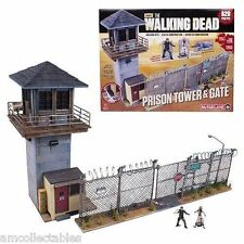 McFARLANE AMC THE WALKING DEAD BUILDING SET - PRISON TOWER & GATE - NEU/OVP