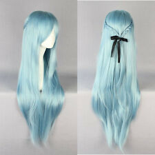 Light Blue Sword Art Online Asuna Yuuki Braided Woman Fashion Cosplay wig 33""