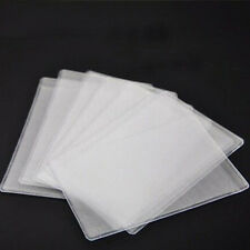 10PCS PVC Transparent Credit Card Holder Protect ID Card Business Card Cover CN