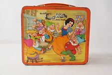 Snow White Seven Dwarfs metal lunch box Aladdin Walt Disney 1975