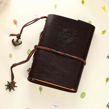 Retro Classic Vintage Leather Journal Travel Notepad Notebook Blank Diary Coffee
