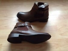 Bnwb Red Foot Brown Leather Chelsea Boots Size UK 7 (G121)