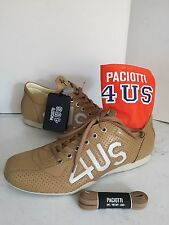 SCARPE PACIOTTI 4US N 40 PELLE CAMEL  UOMO SHOES ITALY FIRST LINE