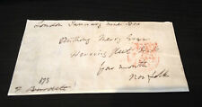 FRANCIS BURDETT - REFORMER AND POLITICIAN - SIGNED ENVELOPE FRONT 1811