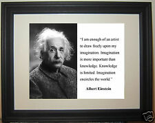 "Albert Einstein "" I am enough...""  Famous Quote Framed Photo Picture"