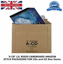 25 x A-CD LIL CD SIZE RIGID CARDBOARD AMAZON STYLE MAILERS ENVELOPES C0 JL0 ACD