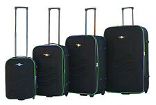 Rivolite Ultra Light weight Soft-Side 4-Pcs Rolling Luggage Set