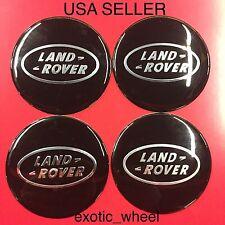 LAND ROVER 4Pcs Black 65mm Car Emblem Badge Wheel Center Hub Cap Decals Stickers