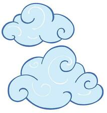 Swirly Clouds Fluffy Sky Wallies Package 25 Cloud White Decals Stickers Murals