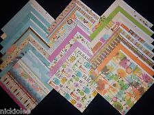 12X12 Scrapbook Paper Cardstock Summer Surfs Up Beach Vacation Travel 24 Lot