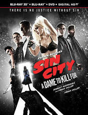 Frank Miller's Sin City:A Dame to Kill For(Blu-ray/DVD, 2014, 3-Disc Set) 3D NEW