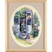"Dimensions Counted Cross Stitch kit 12"" x 16"" ~ GARDEN DOOR Sale #35124"