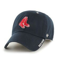 BOSTON RED SOX MLB BASEBALL NAVY BLUE ICE SLOUCH CROWN HAT/CAP NEW