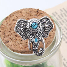 Hot Sale 1PC Elephant Ring Antique Silver Gothic Ethnic Tribal Turquoise Ring