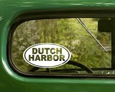 Dutch Harbor Alaska Decal Sticker, 2 Oval for Travel Mug, Car, Laptop
