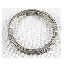 """10m x 3/64"""" 1mm Stainless Steel Cable Wire Rope 316SS"""