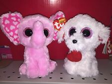 TY SUGAR & HONEY BUN SET OF 2 BEANIE BOOS-NEW,MINT TAGS-GREAT FOR VALENTINES DAY