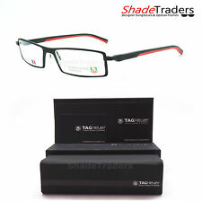 TAG Heuer AUTOMATIC OPENING RIMMED OPTICAL GLASSES FRAME BLACK RED TH0803 012 54