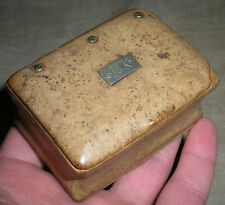 ANTIQUE c. 1760–1770 REVOLUTIONARY WAR BURL TOBACCO / SNUFF BOX INITIALS MK vafo