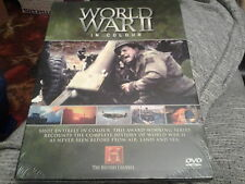 dvd world war 2 II in colour 3 hours new land air sea sealed  history channel
