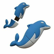 Novelty Blue Dolphin Sealife Animal Shape 16GB USB Memory Stick Flash Drive