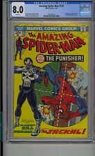 AMAZING SPIDER-MAN #129 CGC 8.0 WHITE PAGES FIRST APPEARANCE OF PUNISHER MARVEL