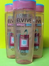 3x L'Oreal Elvive 400ml - Nutri-Gloss Crystal Sparkling Shampoo For Hair Loreal