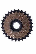 7 SPEED INDEX 14-28 FREEWHEEL BLOCK SCREW ON CASSETTE MTB, RACER BRONZE/BLACK