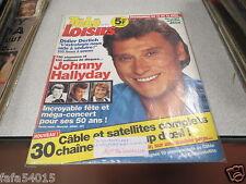 REVUE AVEC COUVERTURE JOHNNY HALLYDAY TELE LOISIRS N° 371 1993 *