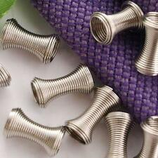 250 X Metal Spring Spacers Beads Findings Silver Tone FASHION