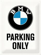 BMW PARKING ONLY  Blechschild 30x40 cm  - Motorrad Sign Signs Biker  23200