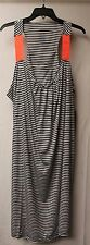 NEW WOMENS SIZE 4X BLACK & WHITE STRIPE W CORAL STRAP DRESS OR SWIMSUIT COVER UP