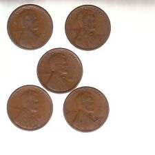 "1916S 1917S 1918S 1919S 1920S   LINCOLN CENTS  ""good"" album fillers   FREE SHIP"