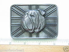 Bull Dog Belt Buckle Red Bull Dog Belt Buckle (BLK)