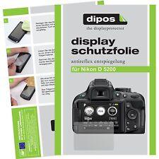 6x dipos Nikon D5200 Schutzfolie matt Displayschutzfolie Antireflex Testsieger