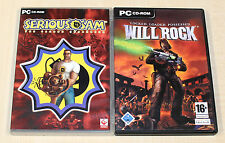 2 PC SPIELE - SERIOUS SAM THE SECOND ENCOUNTER & WILL ROCK - CLASSIC EGO SHOOTER